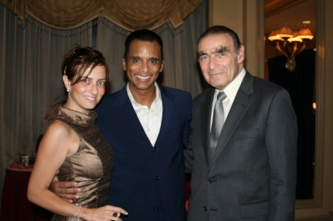 Ann Vellis, Jon Secada, Brute Force backstage after Jon's fatastic performance at Feinsteins, NYC