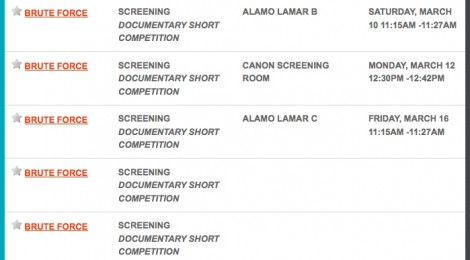 Screenings at SXSW